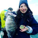 同僚女性が人生初の釣りでチヌ50cmオーバー、良型アジ連発など【fathomテクニカルモニター池田様】社内の釣り大会