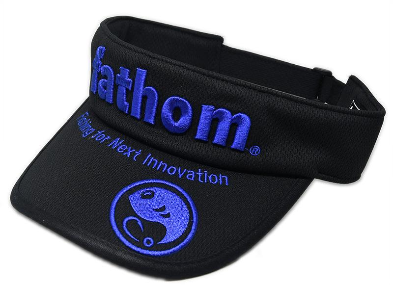 fathom サンバイザー 3Dロゴ ブルー
